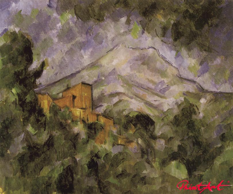 Montaigne Sainte-Victoire und Château Noir Cezanne Paul