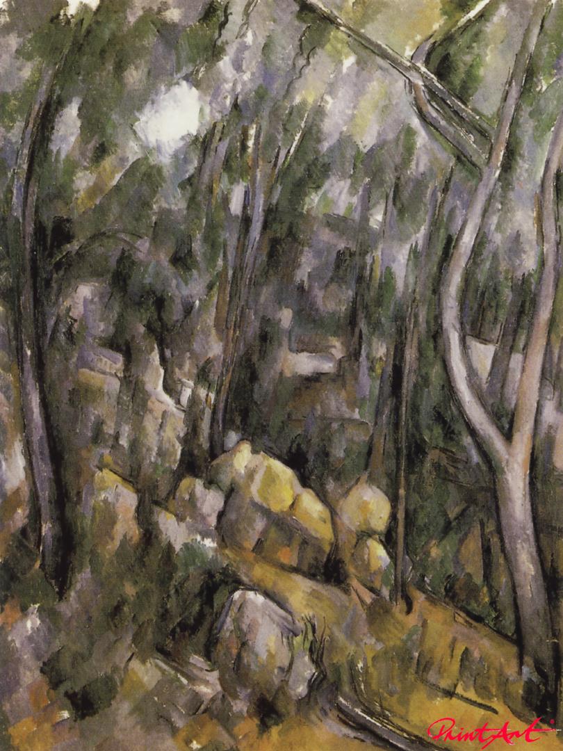 Unterholz bei den Felsenhöhlen oberhalb des Château Noir Cezanne Paul