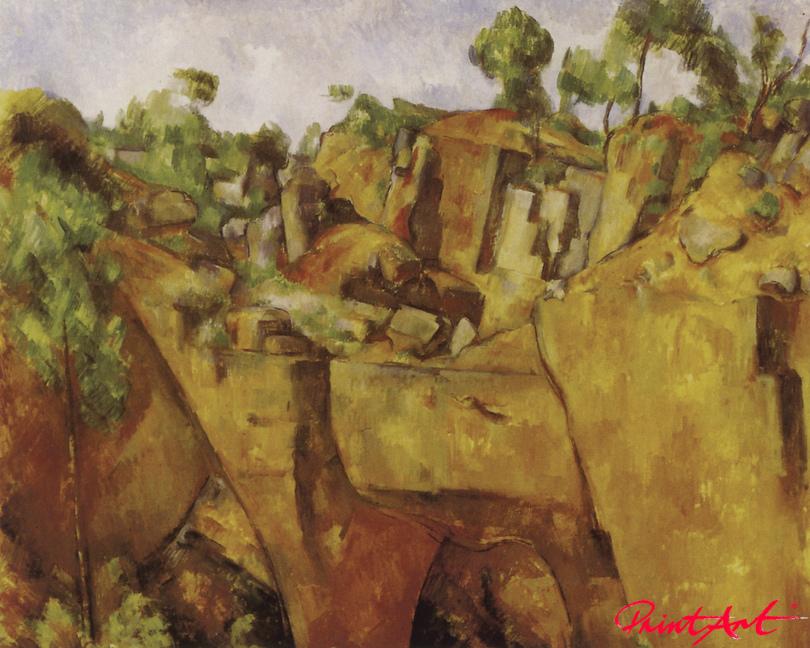 Steinbruch Bibémus Cezanne Paul