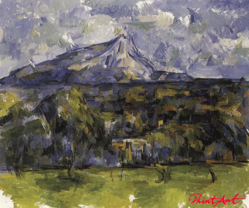 Die Montagne Sainte-Victoire von les Lauves aus gesehen Cezanne Paul