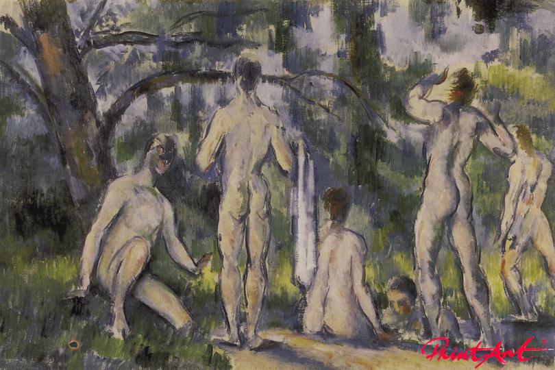 Die Badenden Cezanne Paul