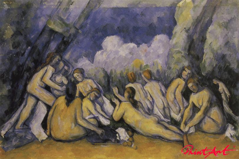 Die grossen Badenden Cezanne Paul