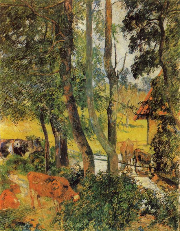 Kühe an der Tränke Gauguin Paul