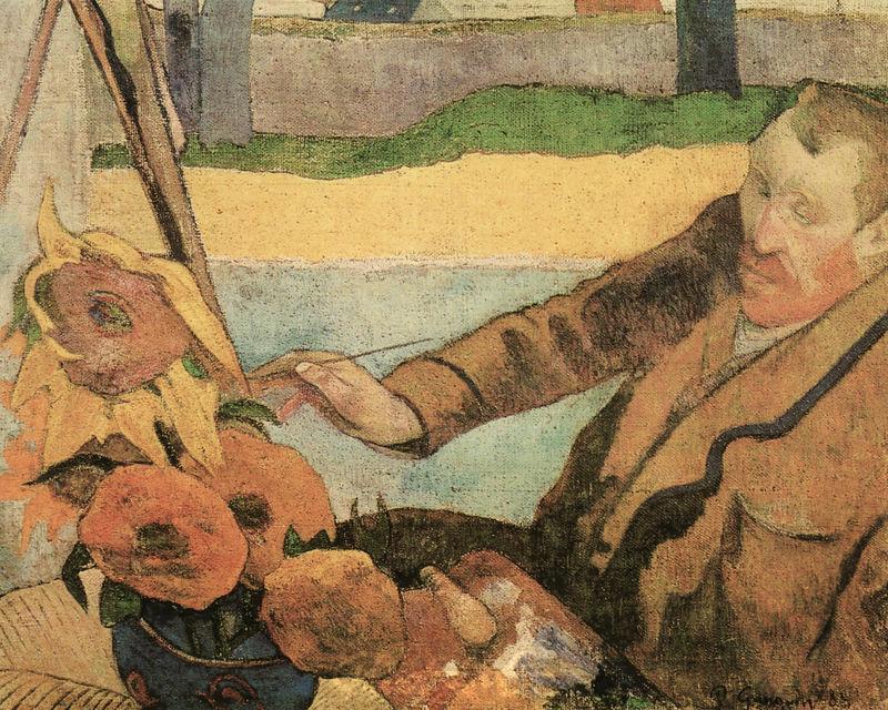 Vincent van Gogh malt Sonnenblumen Gauguin Paul
