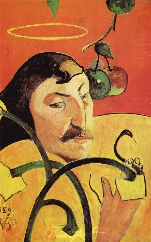 Selbstbildnis mit Heiligenschein Gauguin Paul