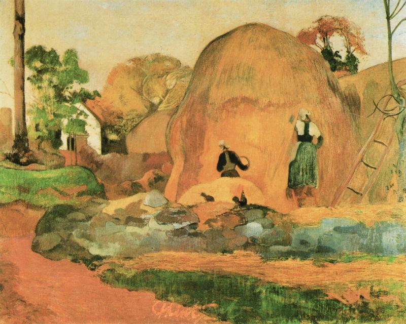 Die gelben Heuschober Gauguin Paul