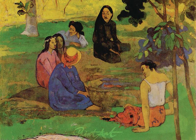 Die Unterhaltung Gauguin Paul