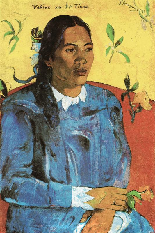 Die Frau mit der Blume Gauguin Paul