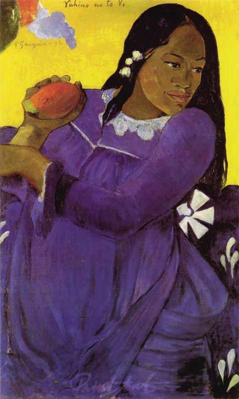 Frau mit Mango Gauguin Paul