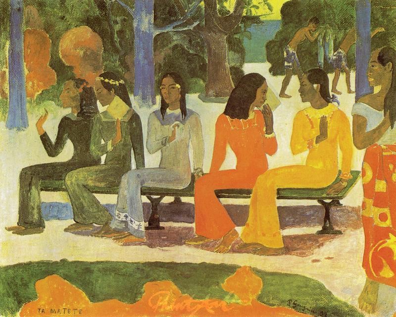 Der Markt Gauguin Paul