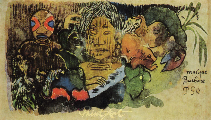 Musique barbare Gauguin Paul