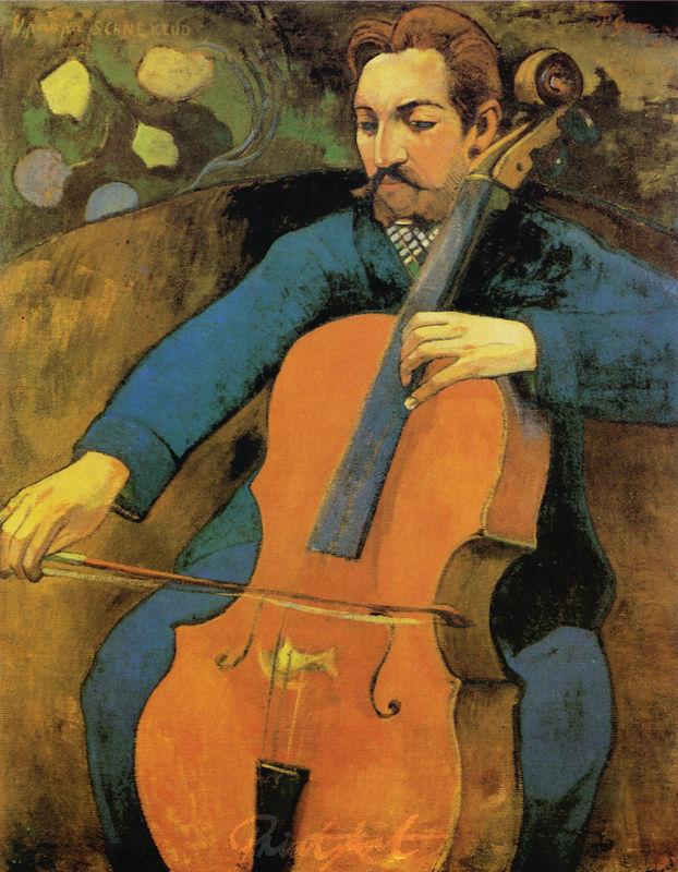 Der Violoncellist Upaupa Schneklud Gauguin Paul