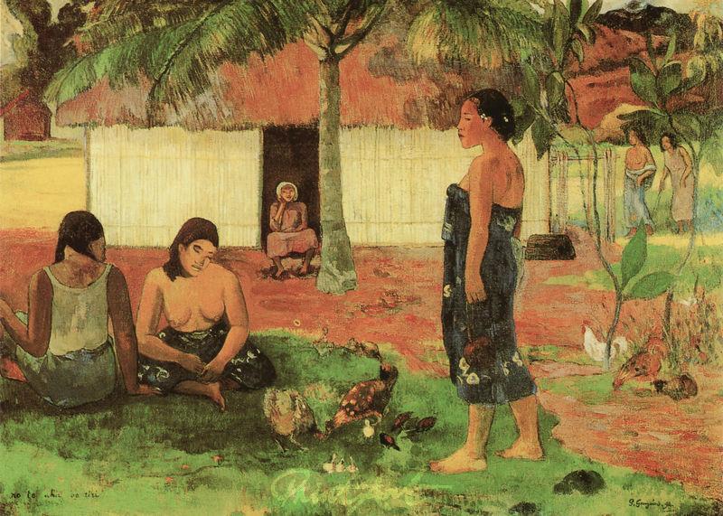 Warum bist du böse? Gauguin Paul