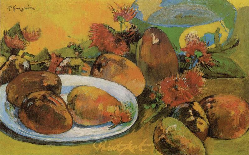 Stilleben mit Mangofrüchten Gauguin Paul