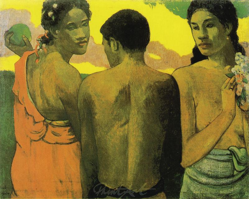 Drei Tahitier Gauguin Paul