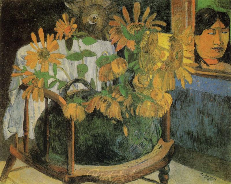 Sonnenblumen auf einem Stuhl Gauguin Paul