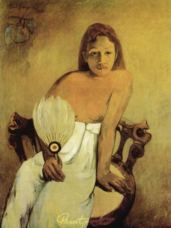 Mädchen mit Fächer Gauguin Paul