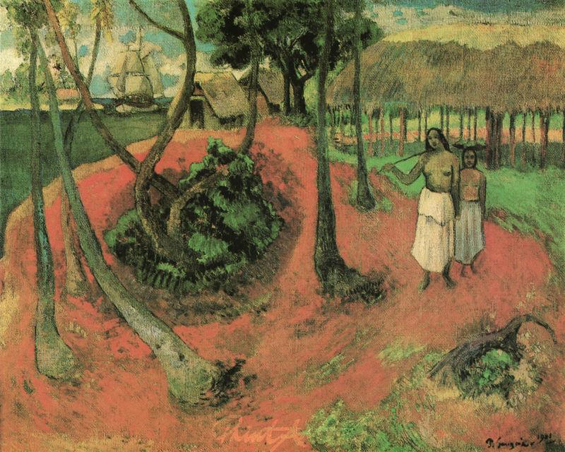 Idylle auf Tahiti Gauguin Paul