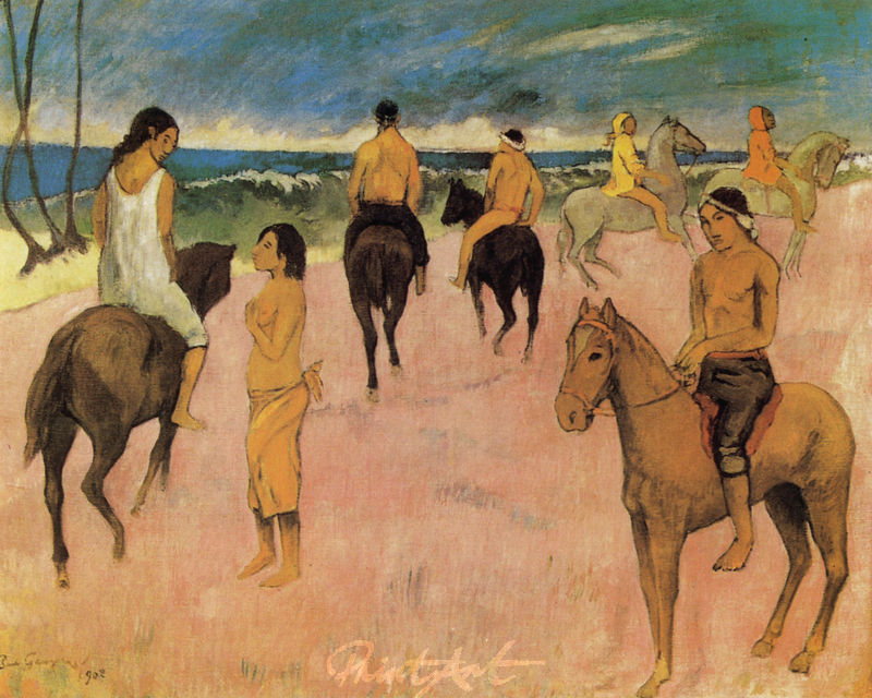 Reiter am Strand Gauguin Paul