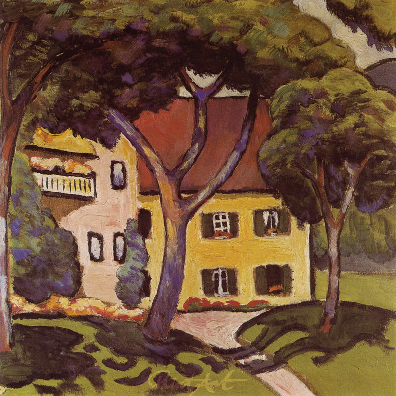 Staudacherhaus in Tegernsee Macke August