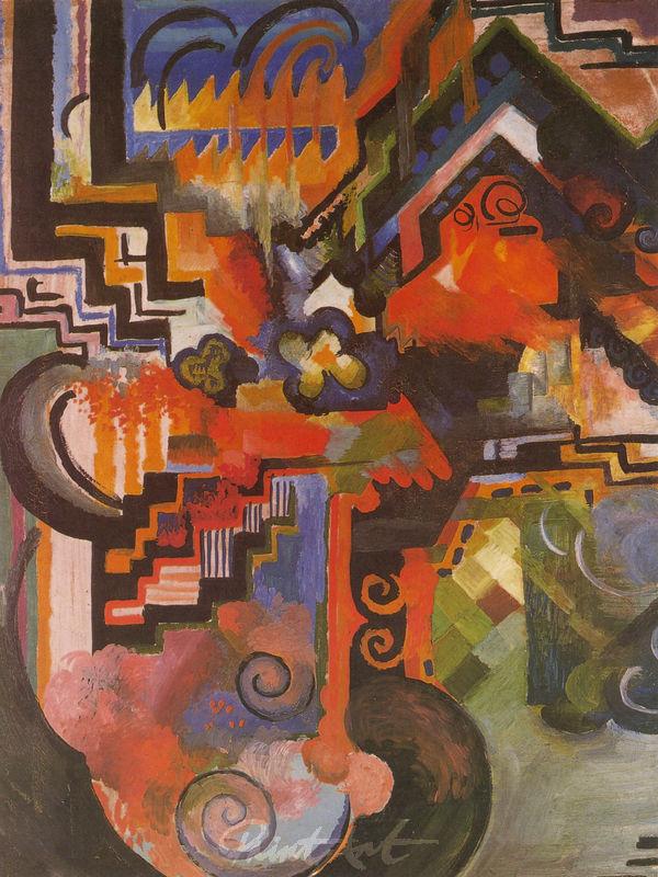 Farbige Komposition Macke August