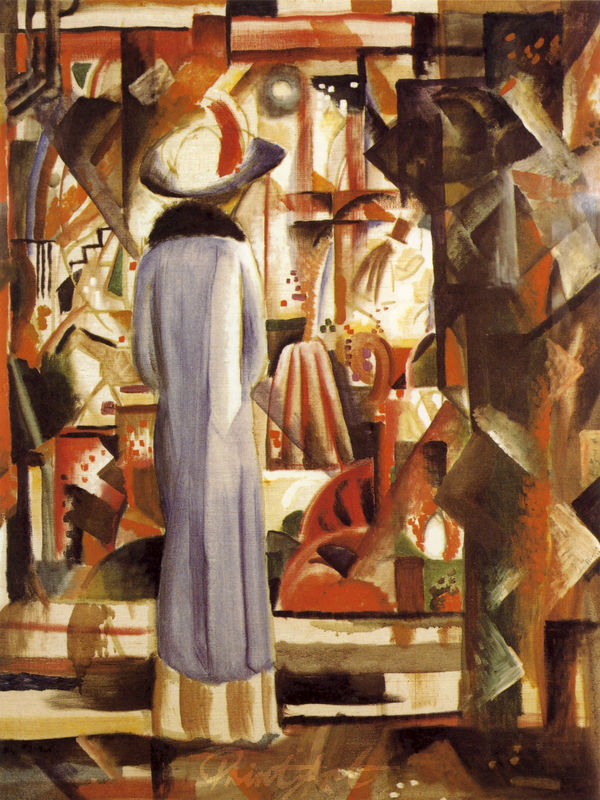 Grosses helles Schaufenster Macke August