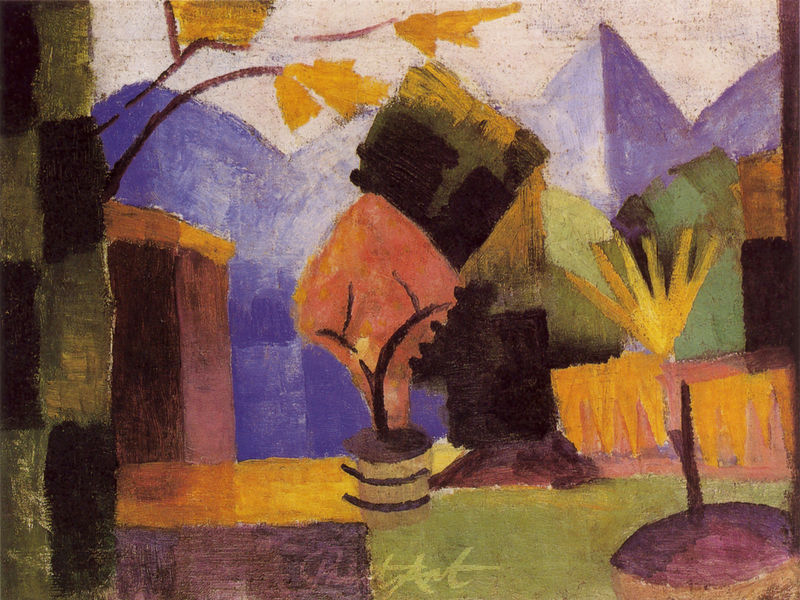 Garten am Thunersee Macke August