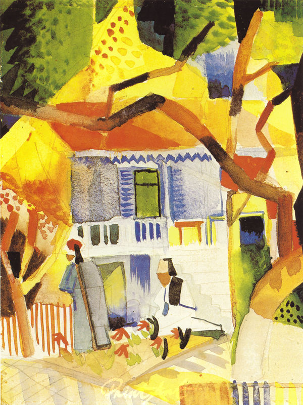 Innenhof des Landhauses in St.Germain Macke August