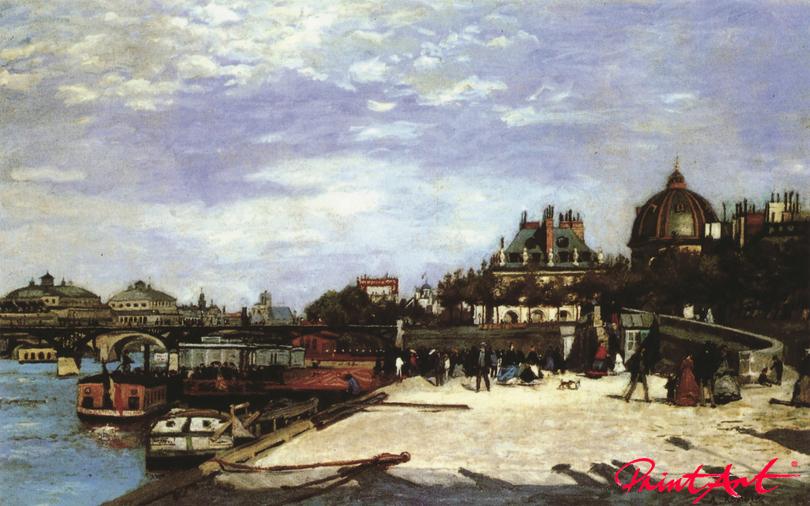 "Die ""Pont des Arts"" in Paris Renoir Pierre Auguste"