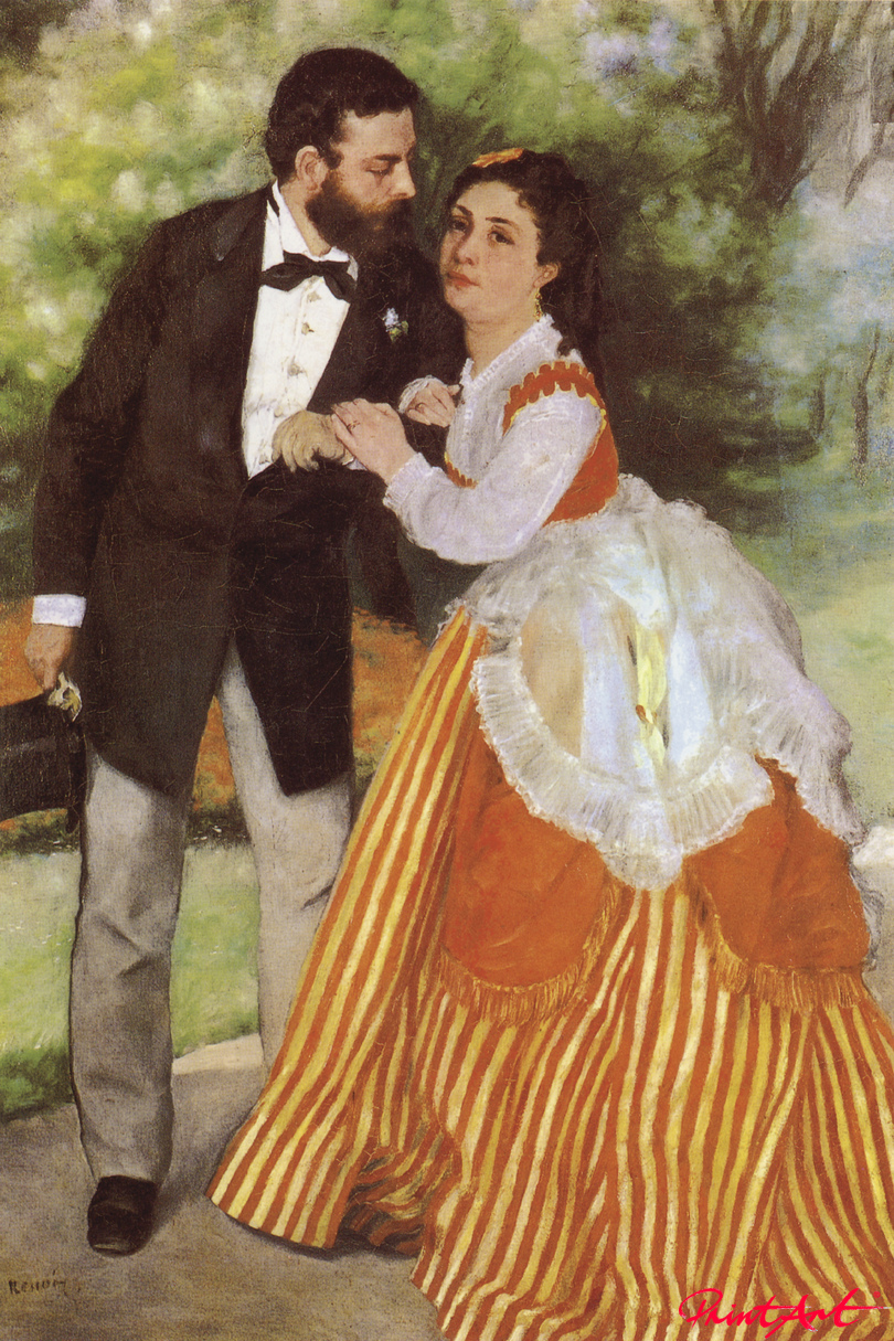 Das Ehepaar Sisley Renoir Pierre Auguste
