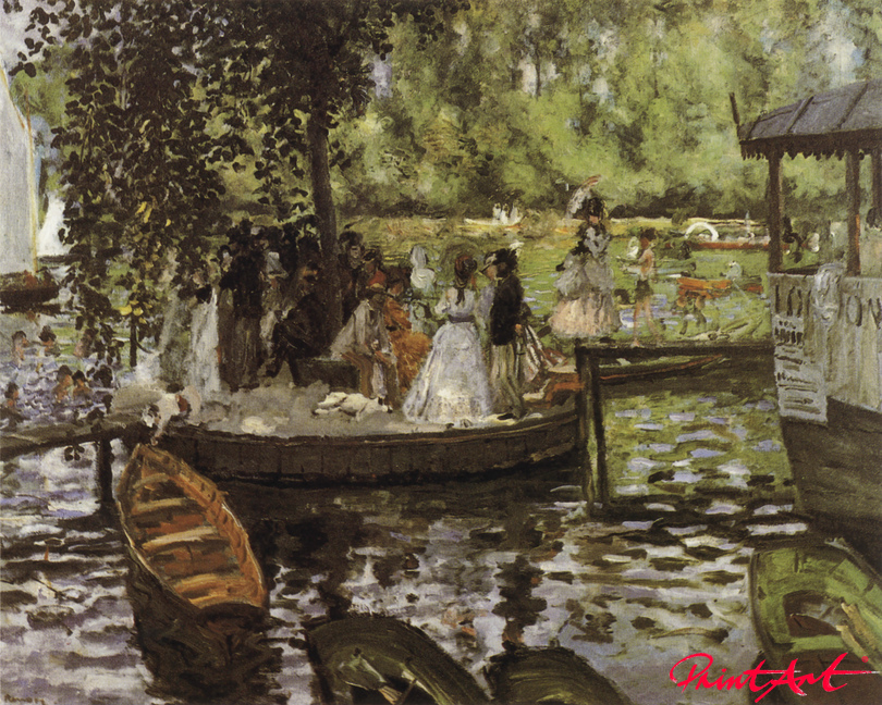 "Der Badeplatz ""La Grenouillère"" Renoir Pierre Auguste"