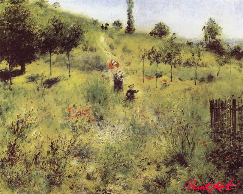 Ansteigender Weg im Grünen Renoir Pierre Auguste