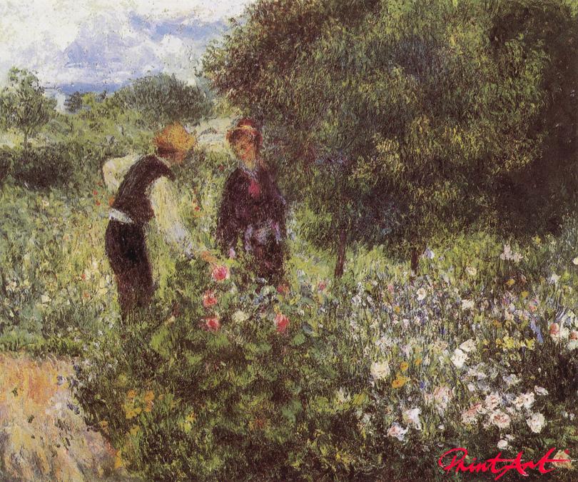 Im Gespräch mit dem Gärtner Renoir Pierre Auguste