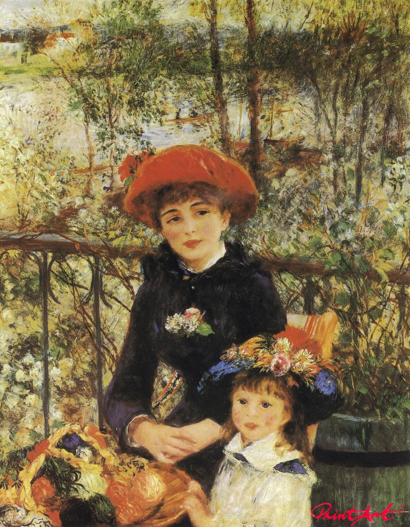 Zwei Schwestern (Auf der Terrasse) Renoir Pierre Auguste