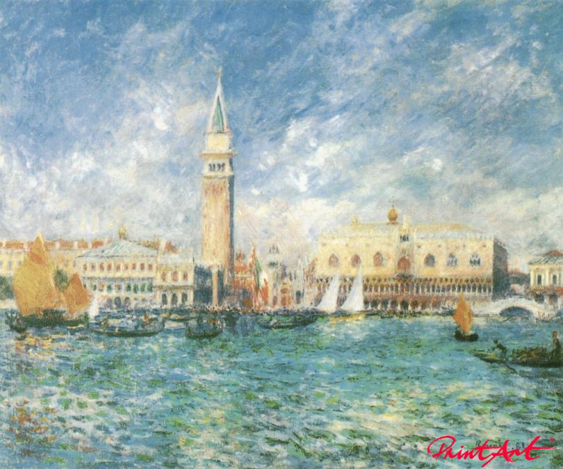 Der Dogenpalast in Venedig Renoir Pierre Auguste
