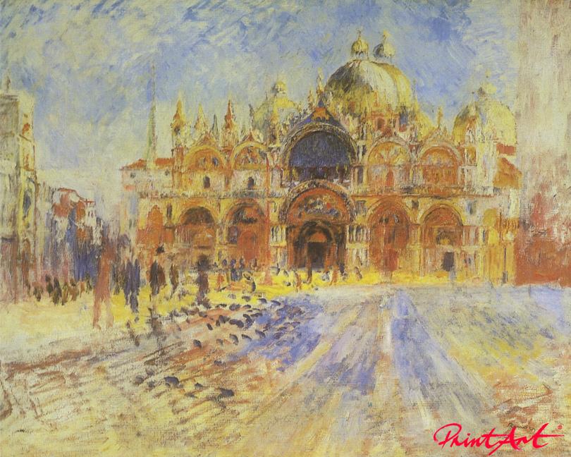 Der Markusplatz in Venedig Renoir Pierre Auguste