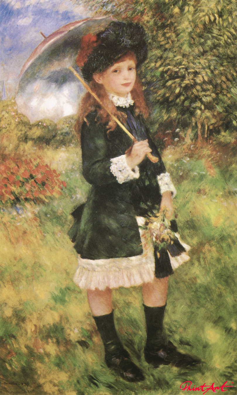 Mädchen mit Schirm (Aline Nunès) Renoir Pierre Auguste