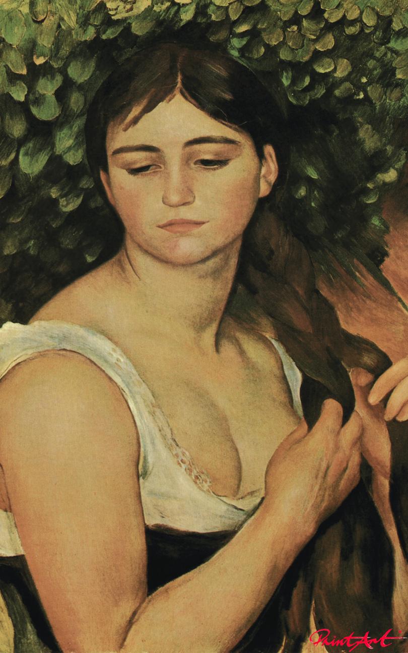 Der Zopf (Suzanne Valadon) Renoir Pierre Auguste