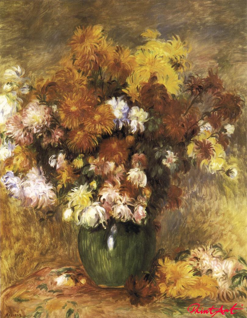 Vase mit Chrysanthemen Renoir Pierre Auguste