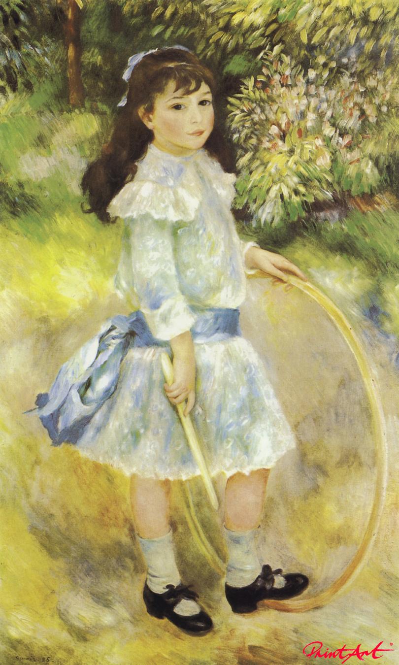 Mädchen mit Reifen (Marie Goujon) Renoir Pierre Auguste