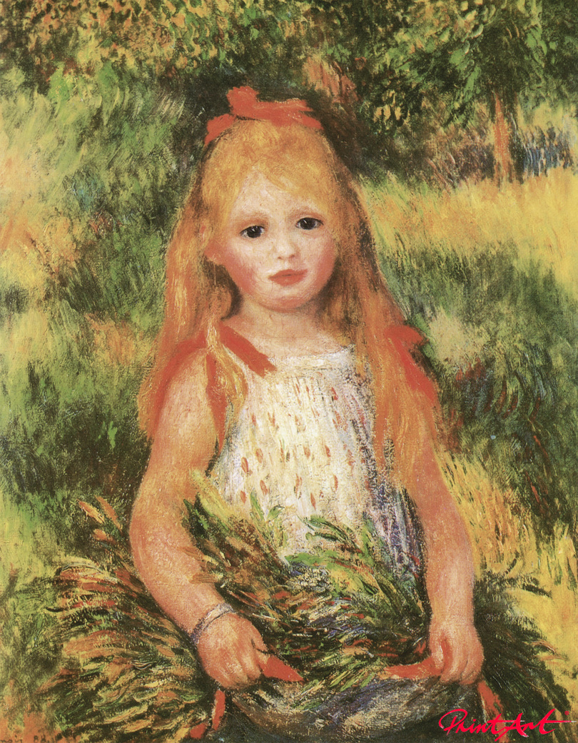 Die kleine Ährenleserin Renoir Pierre Auguste