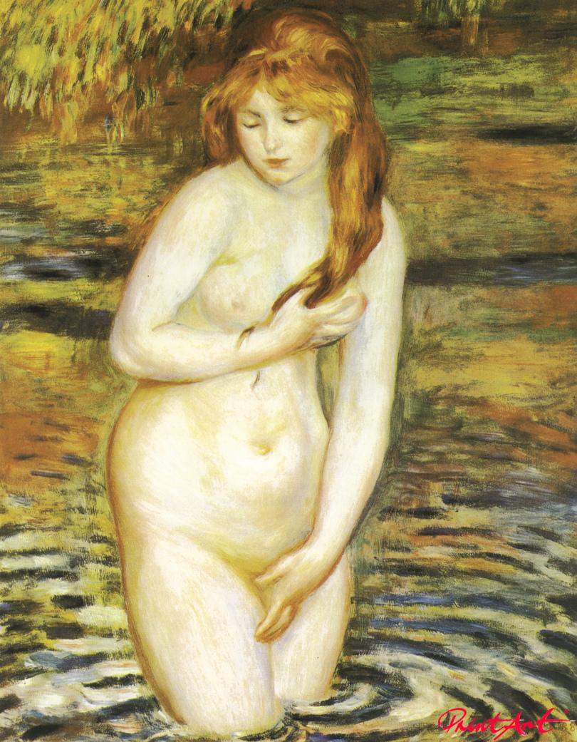 Badende (nach dem Bad) Renoir Pierre Auguste