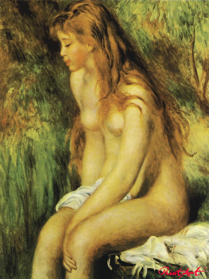 Badende, sitzend Renoir Pierre Auguste