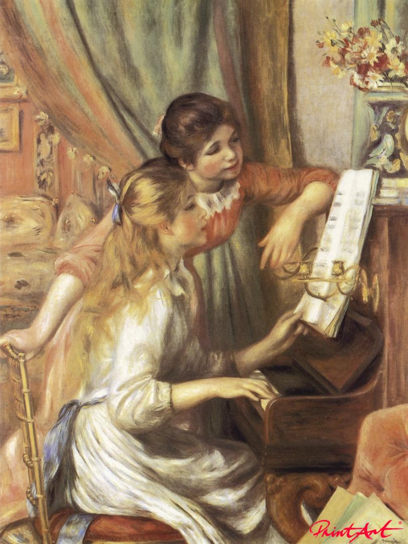 Zwei Mädchen am Klavier Renoir Pierre Auguste