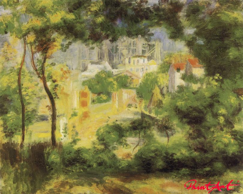Blick auf den Neubau von Sacre-Coeur Renoir Pierre Auguste