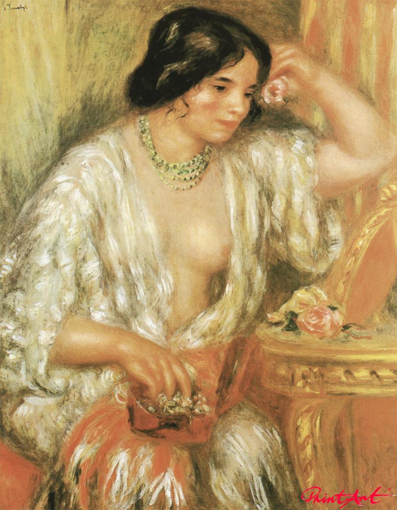 Gabrielle mit Schmuckkästchen Renoir Pierre Auguste