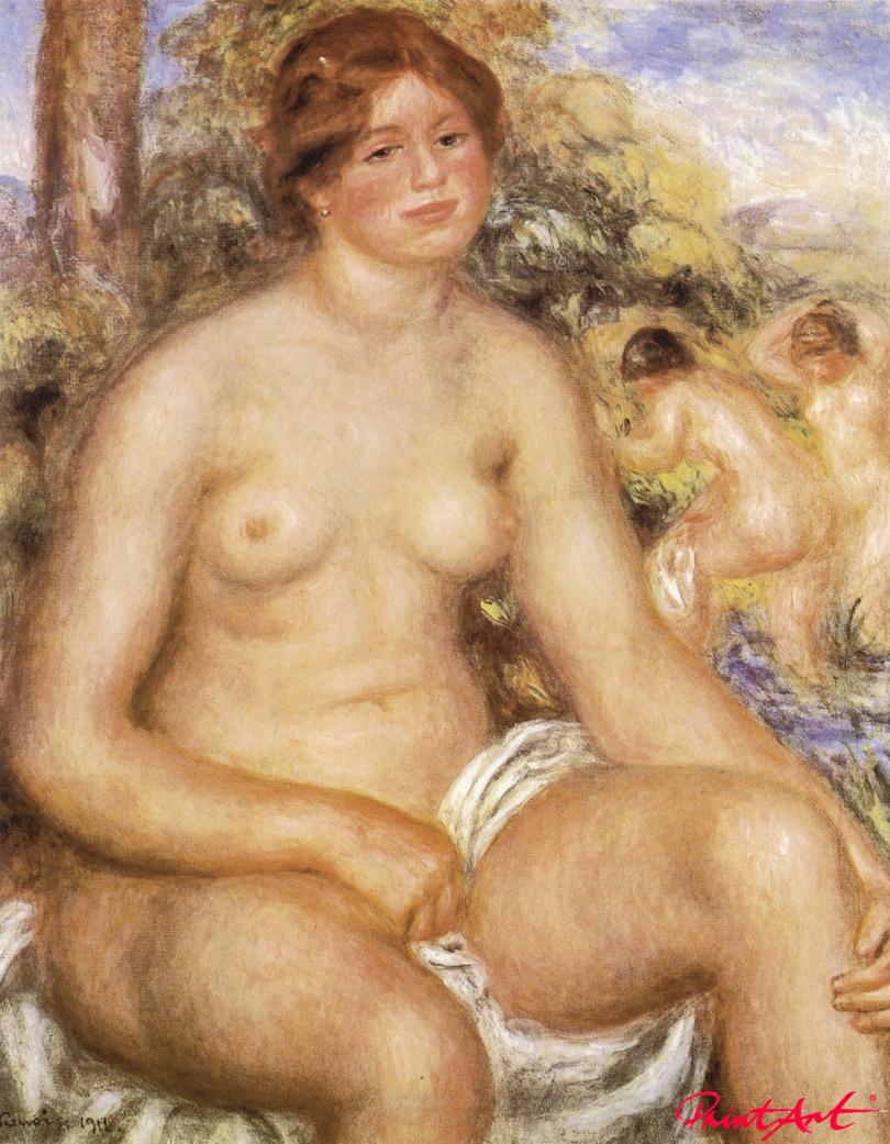 Sitzende Badende Renoir Pierre Auguste