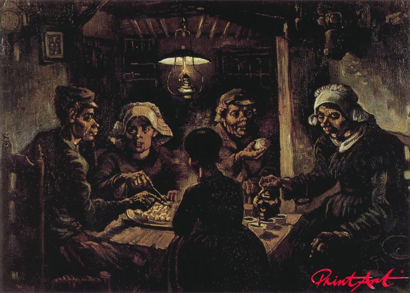 Die Kartoffelesser Van Gogh Vincent