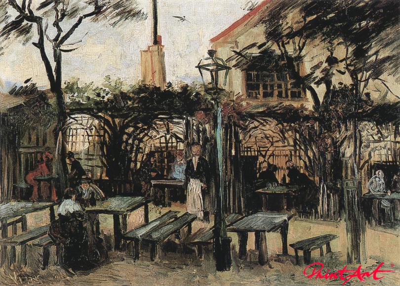 """Gartenlokal """"La Guinguette"""" auf dem Montmartre Van Gogh Vincent"""