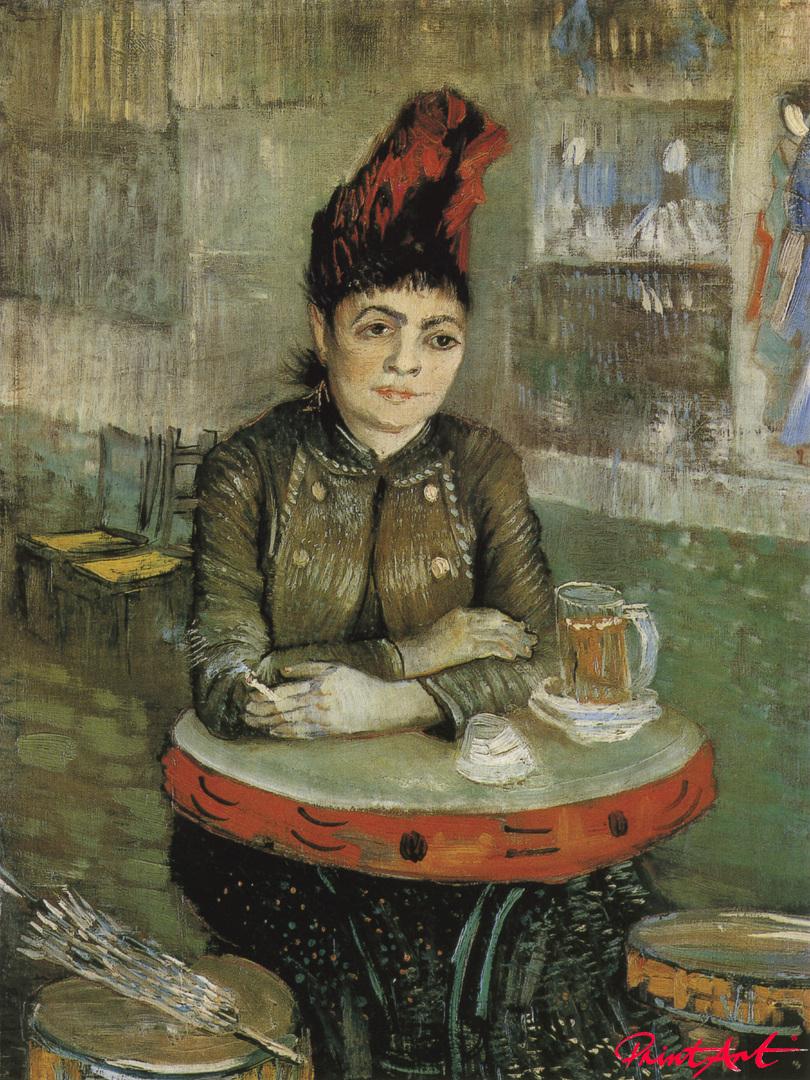 "Sitzende Frau im ""Café du Tambourin"" Van Gogh Vincent"